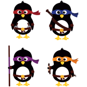 Penguins ninjas