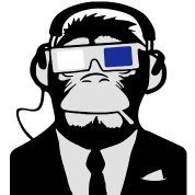 3D Ape Monkey Monkey Electroclub Cuffie motivo