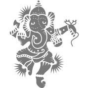 The elephant god Ganesha