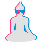 3D Buddha with 3D glasses