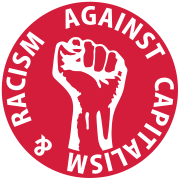 1 color - against capitalism & racism - against capitalism working class war revolution