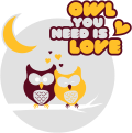 Motif Owl you need is love