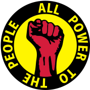 3 colors - all power to the people - against capitalism working class war revolution