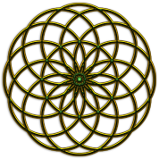 Flower of Life - Seed of Life - Tube Torus, digital, gold, energy, symbol, protection, powerful, icon