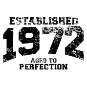 established 1972 - aged to perfection(es)