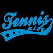 tennis is life - retro
