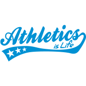 athletics is life - retro