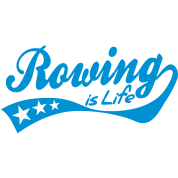 rowing is life - retro