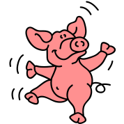 Little dancing pig