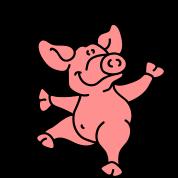 Little dancing pig
