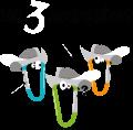 Motif Les 3 mousquetons