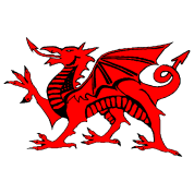 welsh red dragon graphic uk