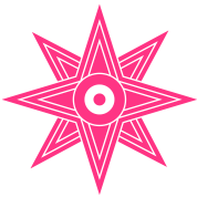Star Of Ishtar - Venus Star, vector 03, Symbol of the great Babylonian Goddess of love Ishtar (Inanna)