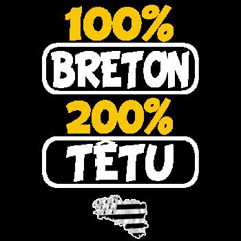 T-Shirt 100 tetu 100 breton<br />imprimer sur un tee shirt