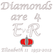 diamonds are for ER jubilee year 2012
