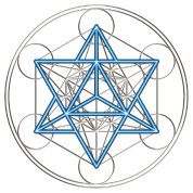 Star Tetrahedron - Merkaba, DD, silver blue, Flower of Life, Sacred geometry, Platonic Solids