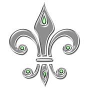 Fleur de Lis - Lily Flower, Trinity Symbol - Charity, Hope and Faith, silver