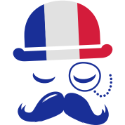 France nation fashionable retro iconic gentleman with flag and Moustache olympics sports football