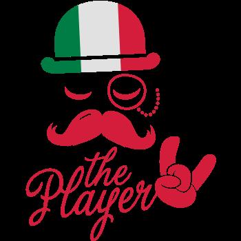 T-Shirt italy retro gentleman sports player rock football bachelor olympics poker championship Moustache<br />imprimer sur un tee shirt