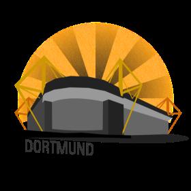 Dortmund Fussballstadion auf dein T-Shirt