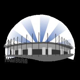 Hamburg Fussballstadion auf dein T-Shirt