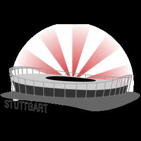 Stuttgart Fussballstadion auf dein T-Shirt