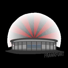 Frankfurt Fussballstadion auf dein T-Shirt