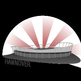 Hannover Fussballstadion auf dein T-Shirt