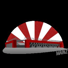 Mainz Fussballstadion auf dein T-Shirt
