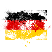 Germany flag banner grunge graffiti style German pride football