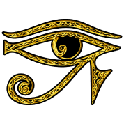 Eye of Horus / udjat - right eye - sun eye / wedjat - left eye - moon eye /symbol - protection & healing /