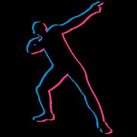 Usian Bolt in 3D auf dein T-Shirt