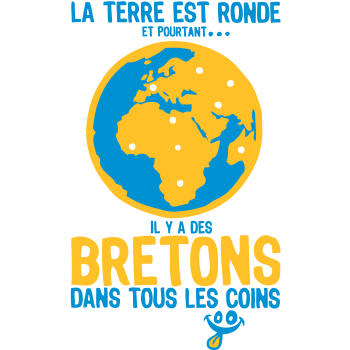 T-Shirt Breton round corners planet earth yet<br />imprimer sur un tee shirt