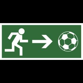 Notausgang Fußball auf dein T-Shirt