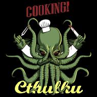 T-Shirt Cuisiner avec Cthulhu!<br />imprimer sur un tee shirt