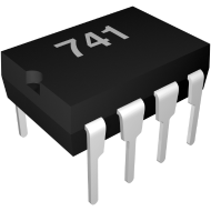 Electronic Component Image - 741 Op-Amp Chip