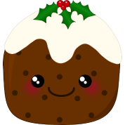 Cute Kawaii Christmas Pudding