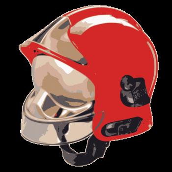 T-Shirt firefighter helmet f1 red man of rank<br />imprimer sur un tee shirt