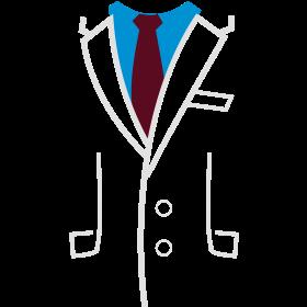 Sakko Anzug Jacke auf dein T-Shirt