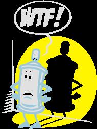 T-Shirt WTF spray flex<br />imprimer sur un tee shirt
