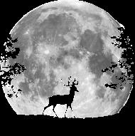 T-Shirt Cerf au clair de lune<br />imprimer sur un tee shirt