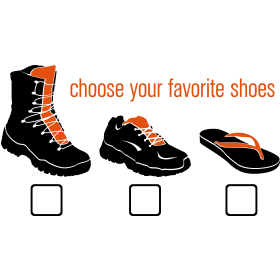 Choose your Favorite Shoes auf dein T-Shirt