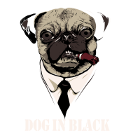 T-Shirt Dog In Black inspire de men in black<br />imprimer sur un tee shirt