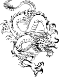 Motif Dragon chinois