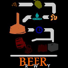 Der Weg des Bieres in Farbe auf dein T-Shirt