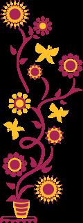 Motif Pot de fleurs