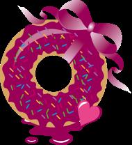 T-Shirt donut avec un ruban<br />imprimer sur un tee shirt