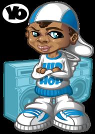 T-Shirt Hip-hop kid and boom-box<br />imprimer sur un tee shirt