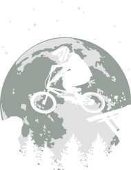 T-Shirt Full moon and BMX flex<br />imprimer sur un tee shirt