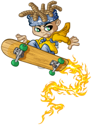 T-Shirt Skateboard and fire<br />imprimer sur un tee shirt